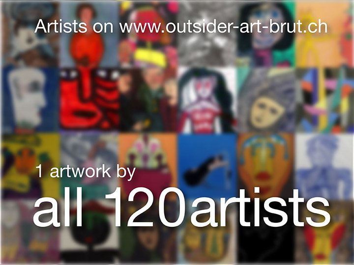 120 artists presented with 1 work each